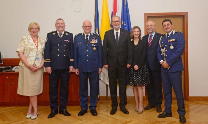 Ministar Božinović i glavni ravnatelj policije Milina primili u posjetu zapovjednika Vatikanske žandarmerije