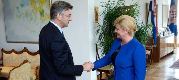 Premijer i šef HDZ-a Plenković: Predsjednici Grabar-Kitarović vrata suradnje uvijek su otvorena