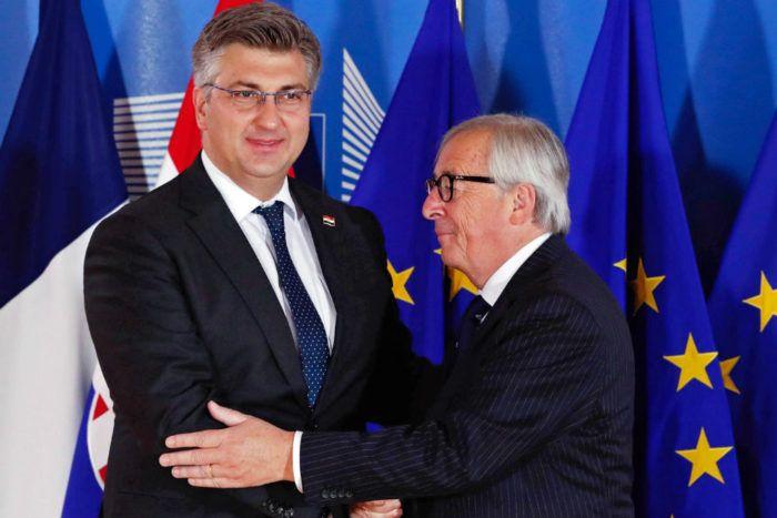 Juncker kaže da se Hrvatska u EU ponaša kao utemeljiteljica, Plenković smatra da je profitirala od ulaska u Uniju