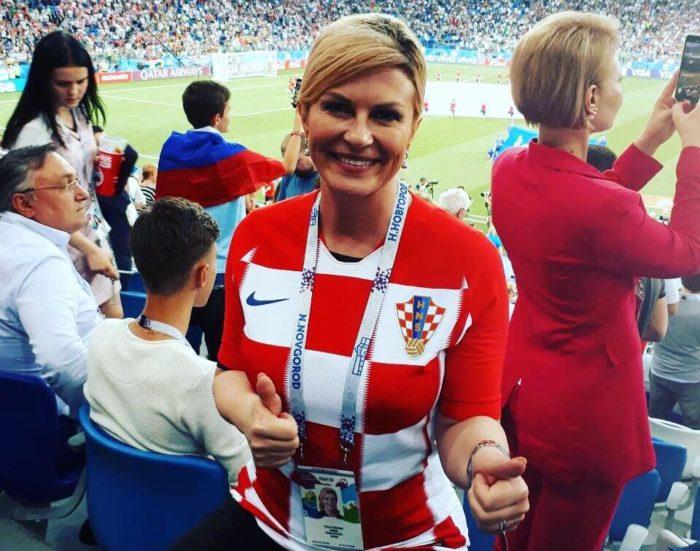 SP Rusija: Hrvatska predsjednica Grabar-Kitarović bodrila 'Vatrene' u Nižnjem Novgorodu