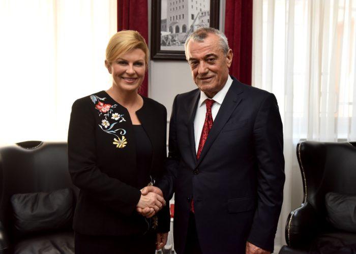 Predsjednica Grabar-Kitarović: bolja povezanost uvjet za jačanje gospodarskih veza s Albanijom