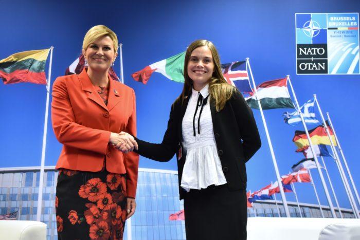 Susret Hrvatske predsjednice Grabar-Kitarović s predsjednicom Vlade Republike Island