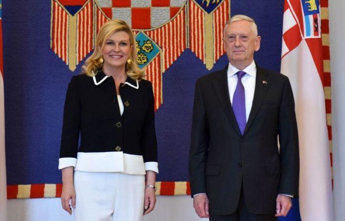 """Predsjednica Grabar-Kitarović s ministrom obrane SAD-a, dvije strane """"razvile strateško"""" partnerstvo"""