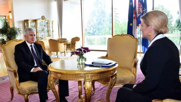 Predsjednica Grabar-Kitarović razgovarala s Draganom Čovićem o situaciji u BiH