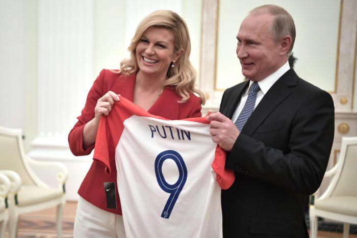 Hrvatska predsjednica Grabar-Kitarović sastala se s ruskim predsjednikom Vladimirom Putinom