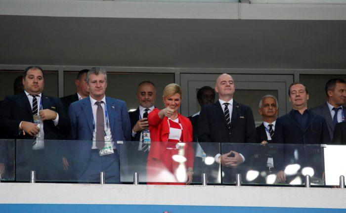 SP Rusija: Na tribinama hrvatska predsjednica Grabar-Kitarović, Medvjedev,  Infantino