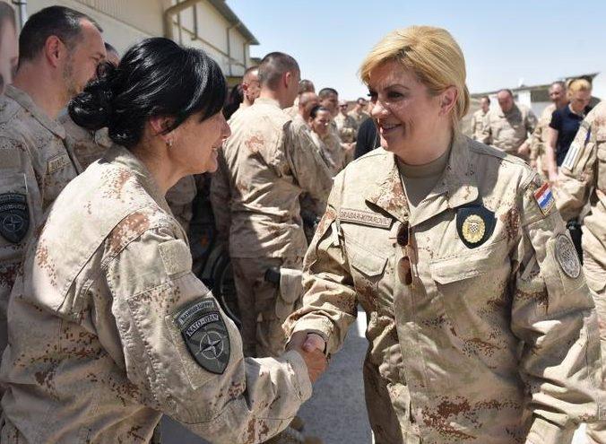 Hrvatska predsjednica Grabar-Kitarović u posjetu Afganistanu