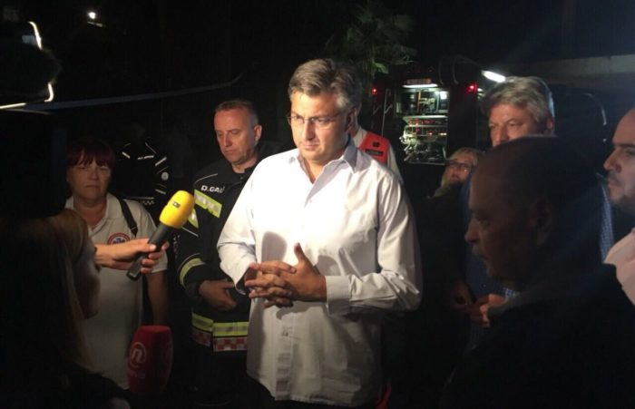 Premijer Plenković i ministar Kujundžić obišli požarište Psihijatrijske bolnice Lopača