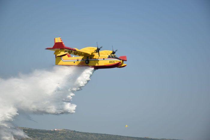Požar na šibenskom području između Zatona i Dobrog Doca