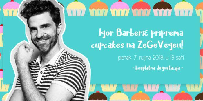 Igor Barberić priprema cupcakes na ZeGeVegeu!