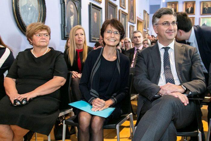 Premijer Andrej Plenković i povjerenica Europske komisije Marianne Thyssen na konferenciji o Europskom stupu socijalnih prava