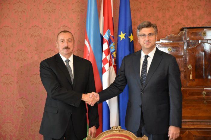 Premijer Andrej Plenković primio predsjednika Azerbajdžana Ilhama Alijeva