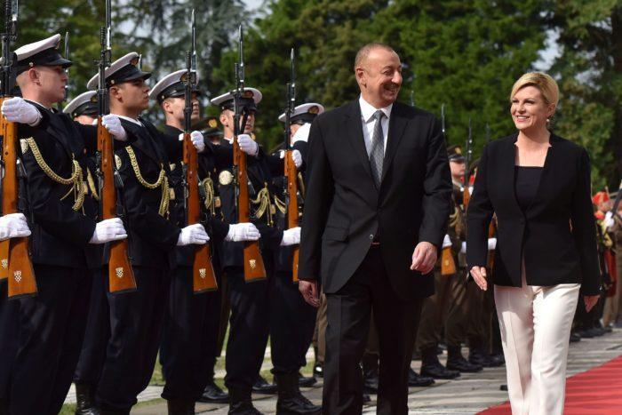 Predsjednica Grabar-Kitarović nakon razgovora s Alijevom: Hrvatska vidi Azerbajdžan kao strateškog partnera