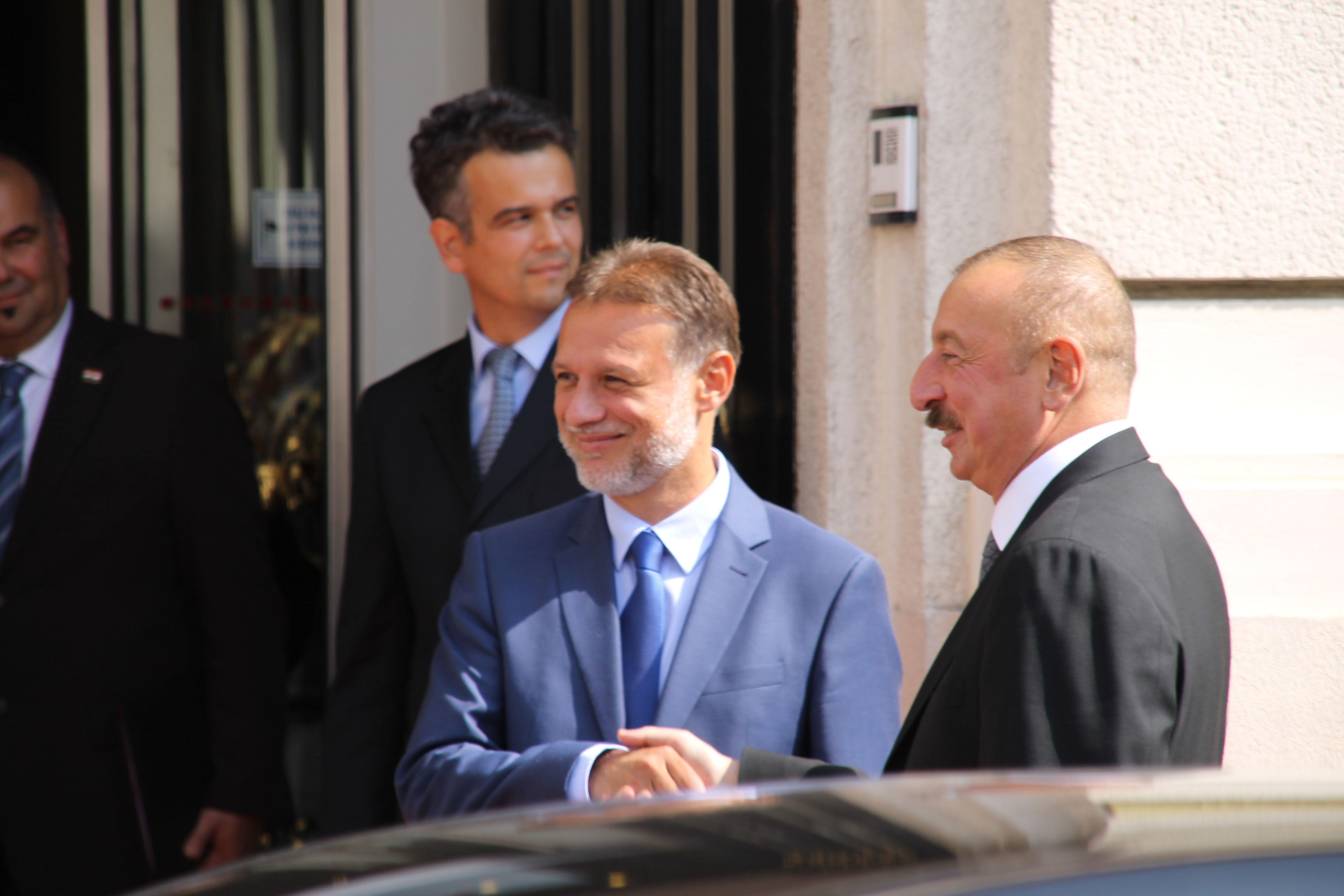 Predsjednik Hrvatskog sabora Jandroković i Alijev razgovarali o jačanju gospodarske suradnje