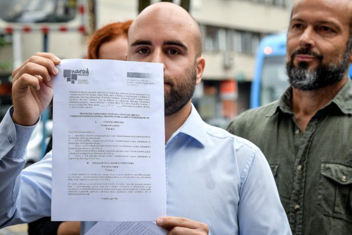 Građanska inicijativa Narod odlučuje traži da im se omogući promatranje provjere potpisa