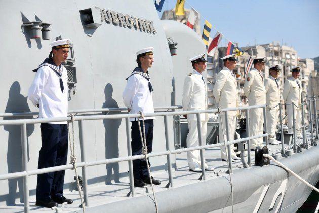 """Baltika, Crnog mora i Jadrana. U posjet Splitu i HRM doplovio njemački ratni brod """"FGS Rhein """"."""