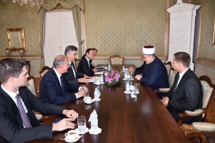 Premijer Plenković primio muftiju Hasanovića – vrlo dobra suradnja hrvatske države i Islamske zajednice u Hrvatskoj