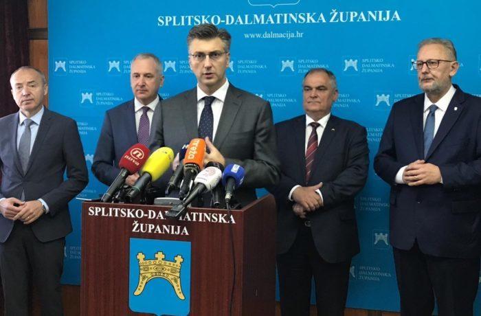 Plenković u Splitsko-dalmatinskoj županiji o realizaciji projekata