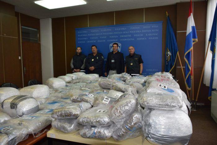 U Modrušu zaplijenjeno 307 kilograma marihuane