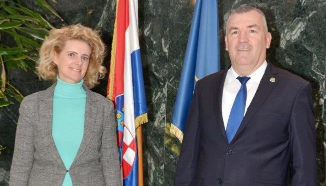 Glavni ravnatelj policije Nikola Milina primio je u nastupni posjet Frontexovu časnicu za vezu Katalinu Pokorny
