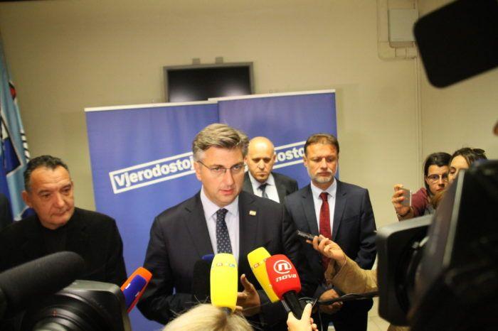 Premijer i šef HDZ-a Plenković: Brkić demantira navode iz medija; sve treba rasvijetliti