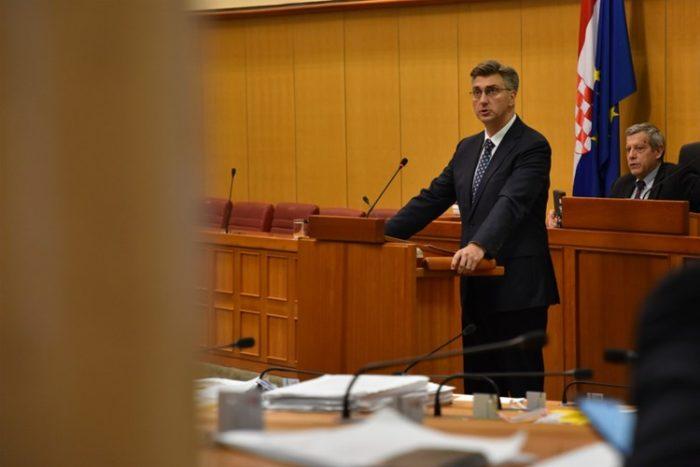 Sabor prihvatio izvješća premijera Plenkovića o sastancima Europskog vijeća i Euro summita