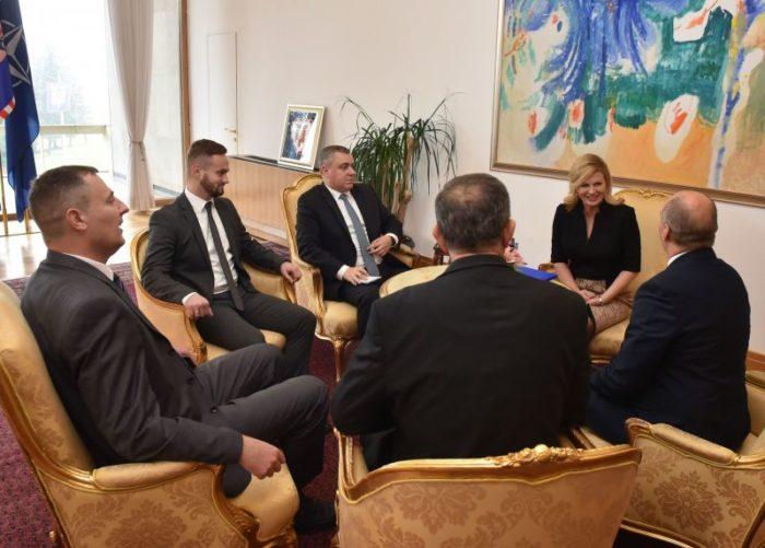 Predsjednica Grabar-Kitarović primila izaslanstvo Zajedničkog vijeća općina