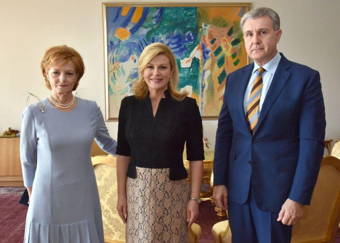Predsjednica Grabar-Kitarović primila Margaretu, čuvaricu rumunjske krune i princa Radua od Rumunjske