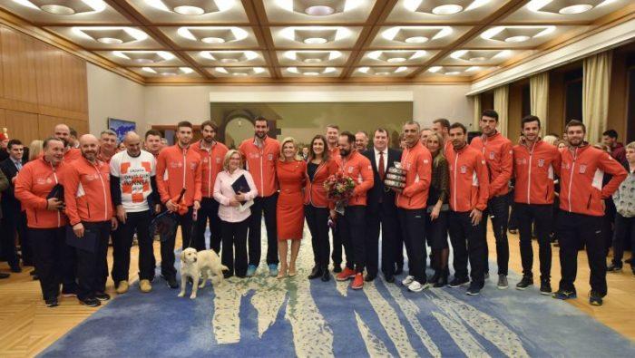Predsjednica Republike Kolinda Grabar-Kitarović odlikovala članove Davis Cup reprezentacije
