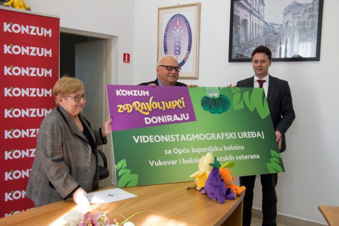 Konzum donirao uređaj za videonistagmografiju Općoj županijskoj bolnici Vukovar i bolnici hrvatskih veterana