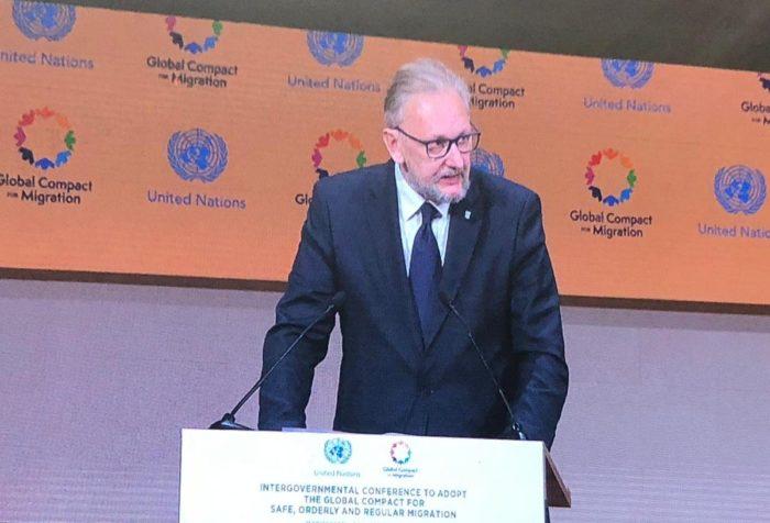Božinović na UN-ovoj konferenciji: Globalni kompakt potvrđuje pravo svake države da određuje svoju migracijsku politiku