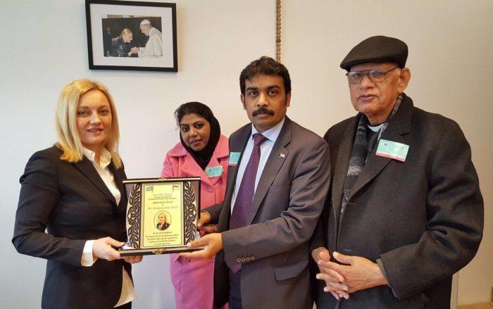 Zastupnica u Europskom parlamentu Marijana Petir primila priznanje za zalaganje za pakistanske kršćane