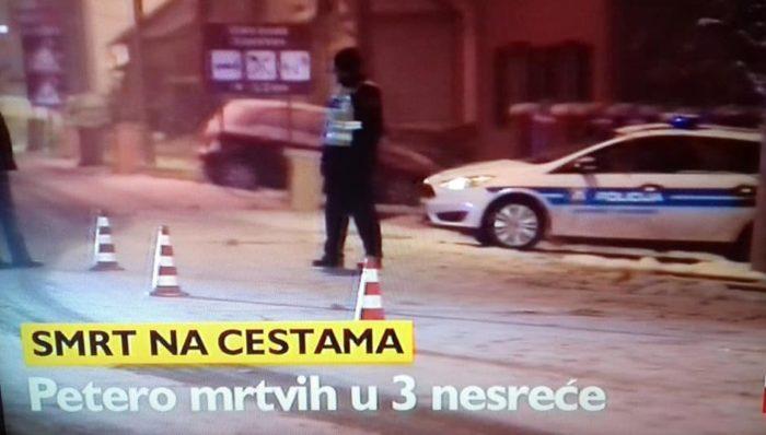 MUP: U utorak petero poginulih na hrvatskim cestama