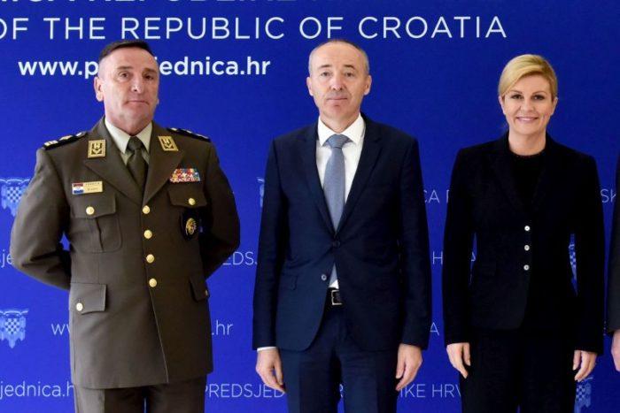 """""""Nemogućnosti isporuke zrakoplova F-16 Barak"""" Predsjednica Grabar-Kitarović primila ministra Krstičevića i generala Šundova"""