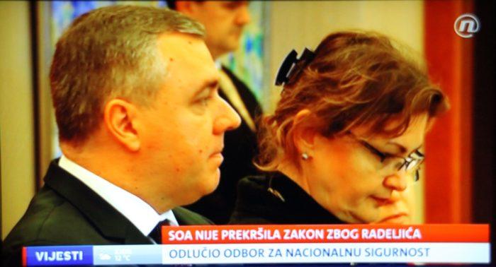 Saborski Odbor za unutarnju politiku i nacionalnu sigurnost : U 'slučaju Radeljić' nije bilo zlouporabe od strane SOA-e