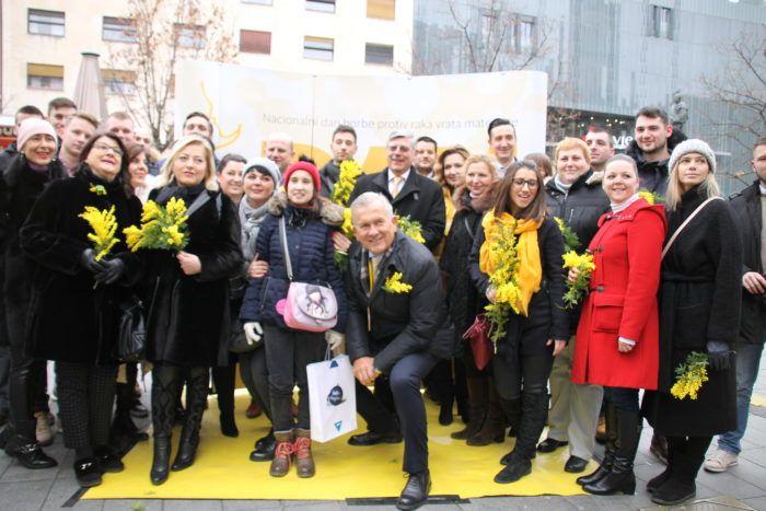 U Zagrebu obilježen 12. Dan mimoza: U godini dana značajno smanjen broj oboljelih