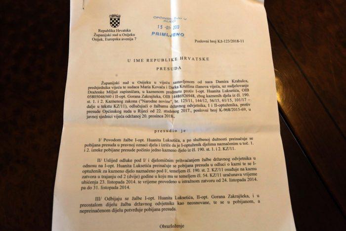 SKANDALOZNA PRESUDA – Drugostupanjski sud potvrdio kaznu od dvije godine zatvora zbog uzgoja marihuane Huanitu Luksetiću koji boluje od multiple skleroze