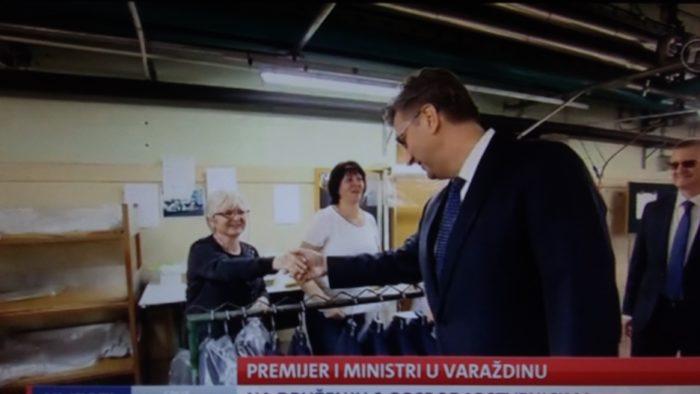 Premijer Plenković posjet Varaždinu počeo obilaskom Varteksa