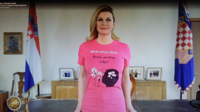 Predsjednica Kolinda Grabar-Kitarović podržala nacionalni dan borbe protiv vršnjačkog nasilja: Nasilje prestaje ovdje !!!