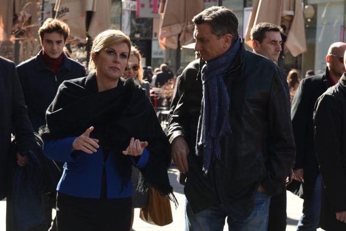 Grabar-Kitarović i Borut Pahor prošetali centrom grada