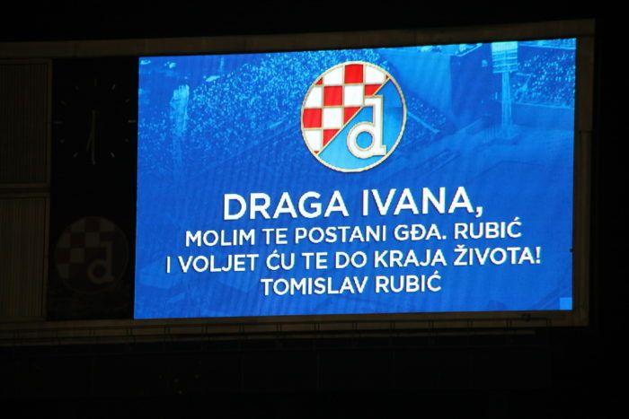 """""""ROMANTIKA"""" Tomislav zaprosio Ivanu pred prepunim stadionom na Maksimiru"""