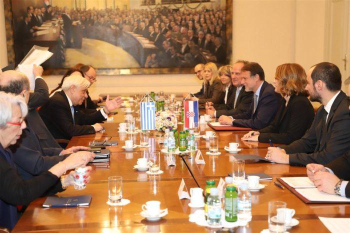 Predsjednik Hrvatskoga sabora Jandroković i grčki predsjednik Pavlopoulos razgovarali o jačanju bilateralne suradnje