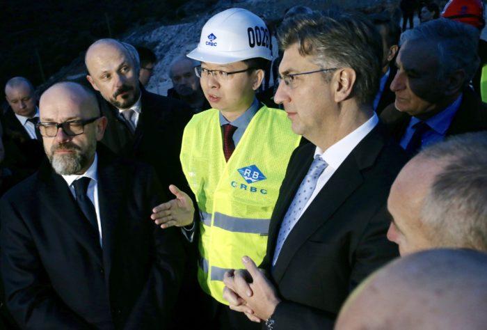 Plenković: Poslovi na izgradnji Pelješkog mosta odvijaju se jako dobro, brže nego je predviđeno