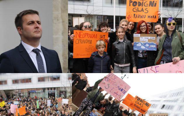Ministar Ćorić pozdravio globalni prosvjed mladih protiv klimatskih promjena