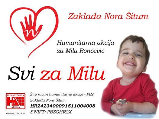 HRVATSKA JOŠ JEDNOM POKAZALA VELIKO SRCE: U borbi za Milu skupljeno gotovo 8 milijuna kuna! Idemo dalje!