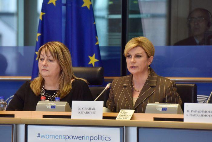 Predsjednica Grabar-Kitarović u svom govoru u Europskom parlamentu pozvala žene da vjeruju u sebe