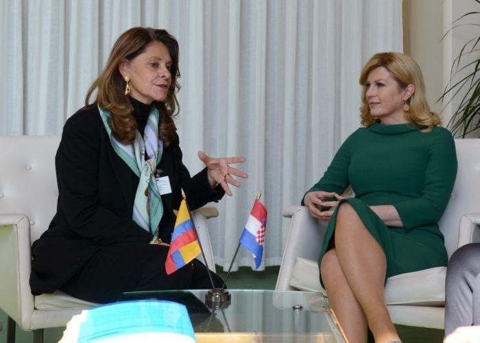 """Grabar-Kitarović u sklopu konferencije UN-a """"Žene na vlasti"""" održala bilatrealni sastanak s potpredsjednicom Kolumbije"""