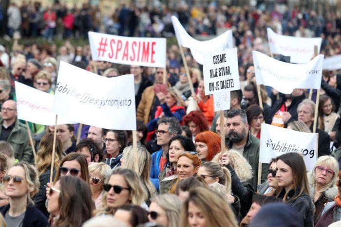 Prosvjed #Spasime: Potrebna je nulta stopa tolerancije na nasilje