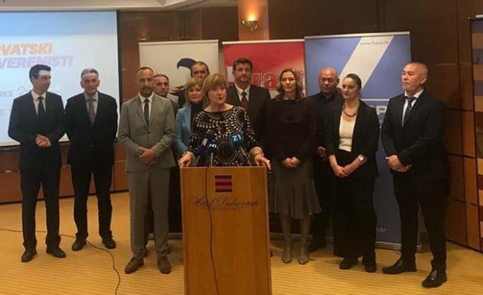 """Hrvatski suverenisti predstavili listu za Europski parlament: """"Vjerujemo da ćemo dobro proći i da ćemo dobiti dva mandata"""""""