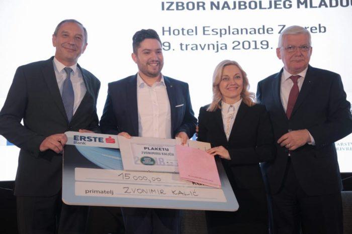 Marijana Petir uručila Zvonimiru Kaliću nagradu za najboljeg mladog poljoprivrednika